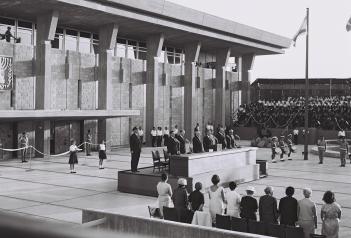Image result for Inauguration ceremony of the Knesset building 30 Aug 1966