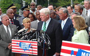 Rep. Jim Moran (D-VA) speaking for Mayors Agai...