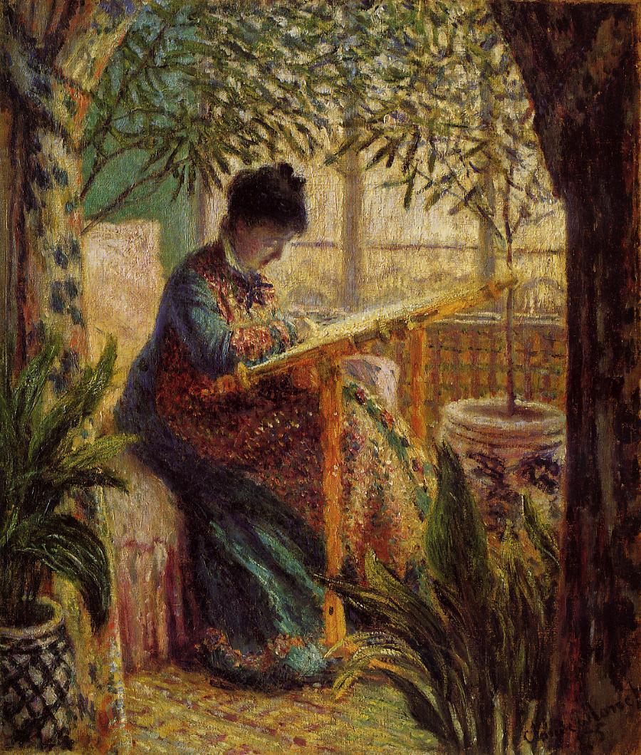 Monet - Camille au métier