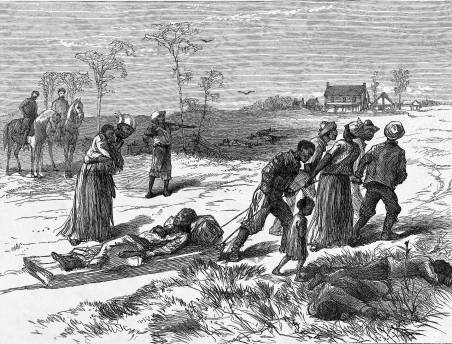 Gathering the dead after the Colfax Massacre in Louisiana