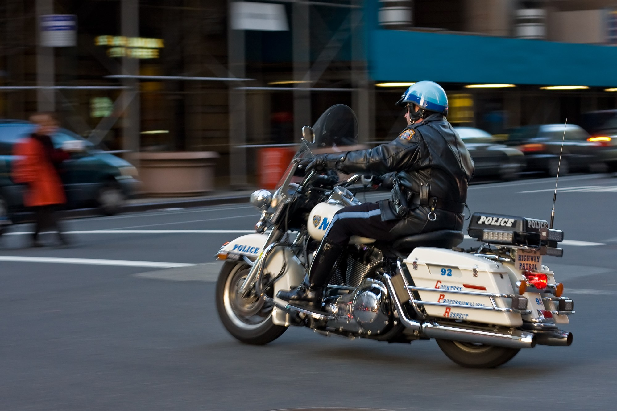 hight resolution of police motorcycle