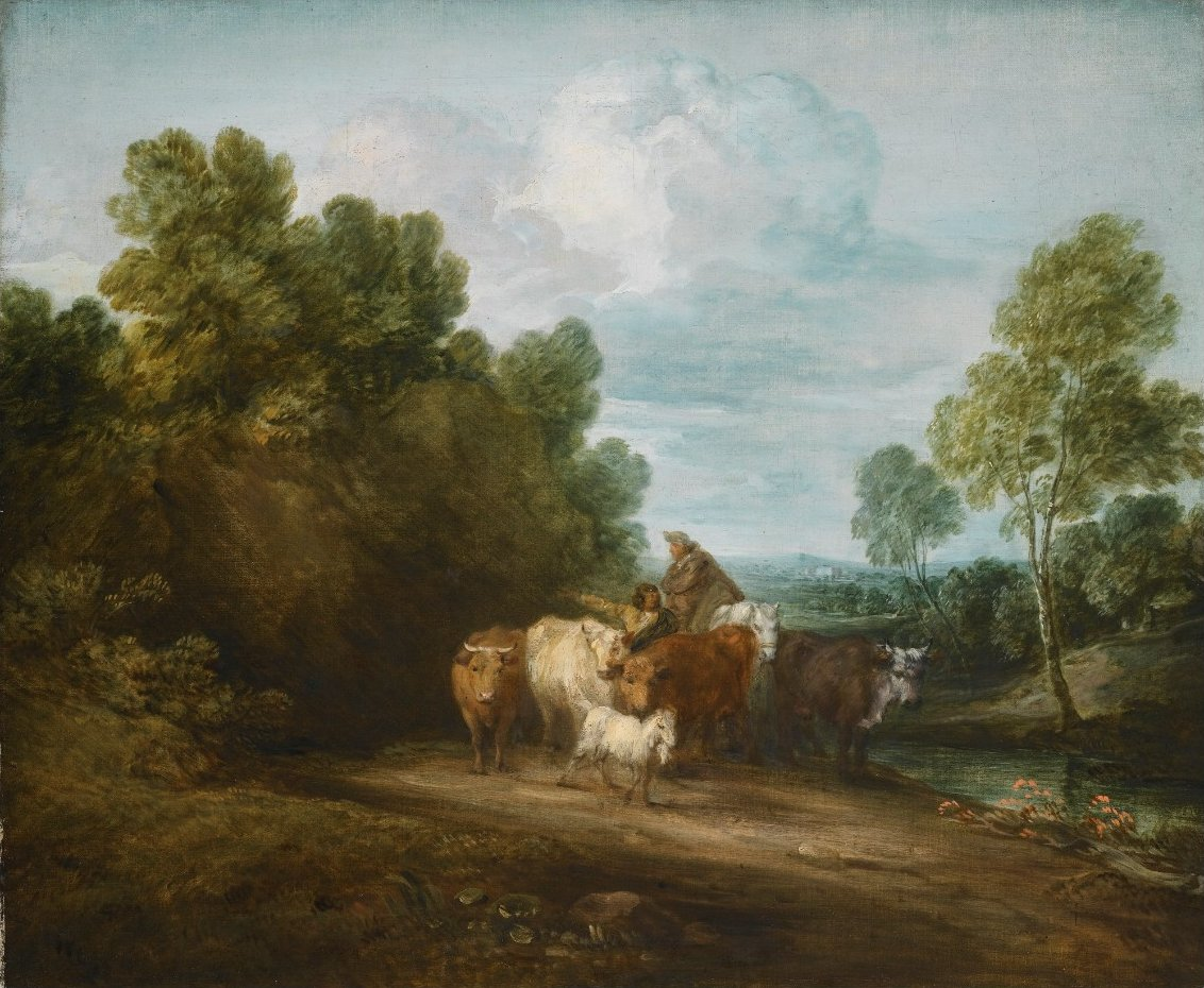 FileWooded Rocky Landscape with Mounted Peasant Drover