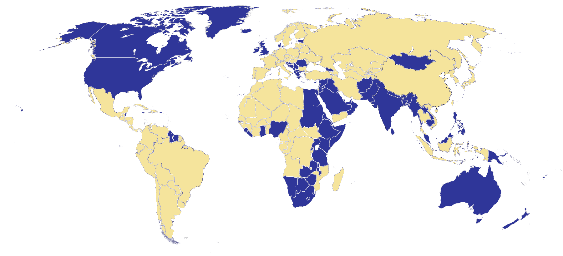 Map Of Countries Where The English Wikipedia Is The Most