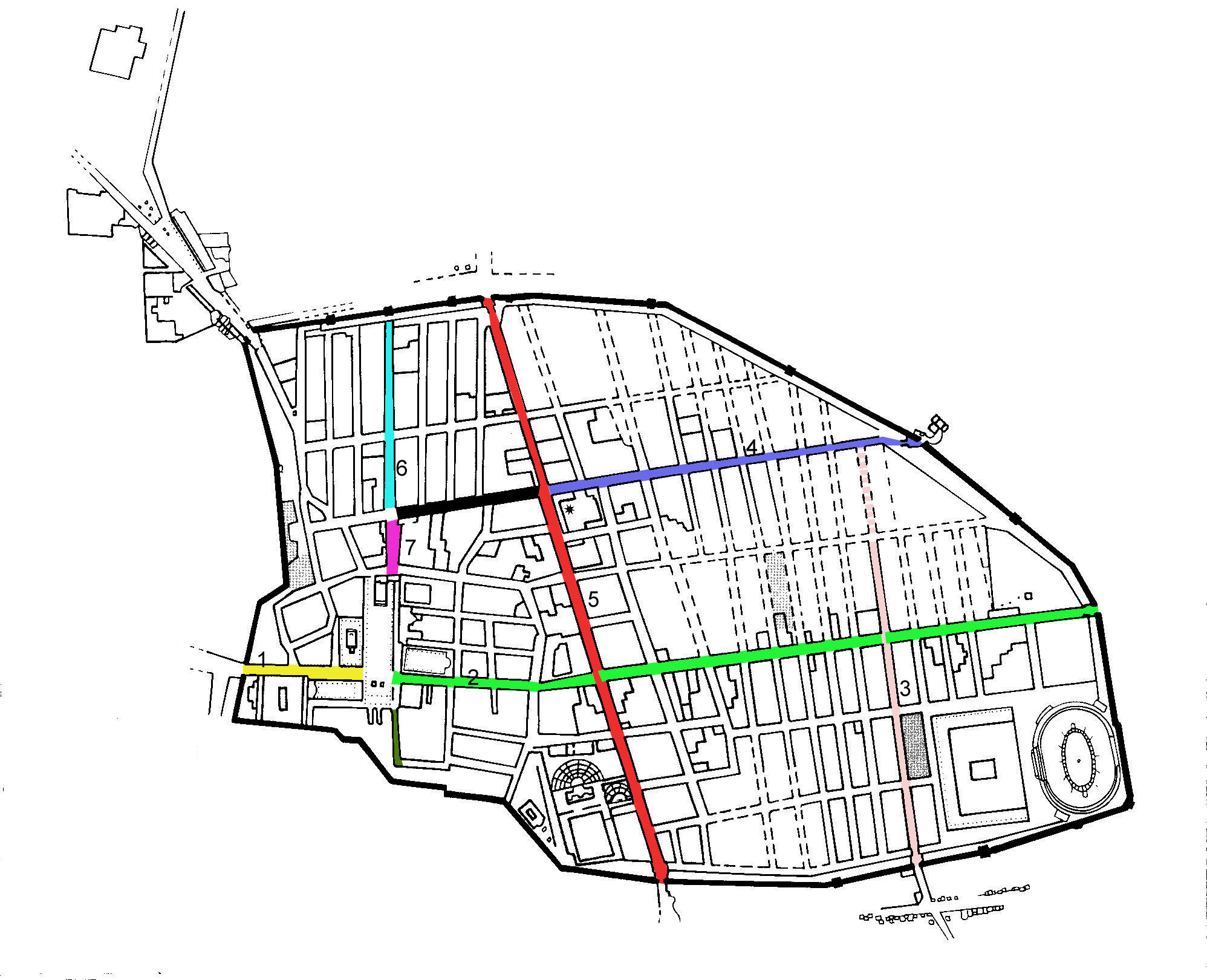 File:Map showing the main streets of Pompeii.jpg