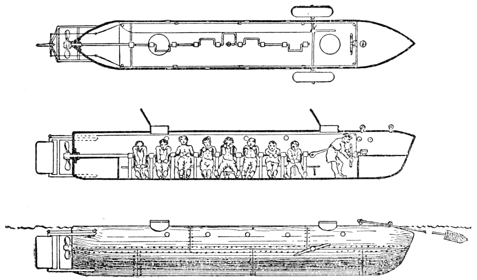 hight resolution of psm v58 d167 confederate submarine which sank the housatonic png