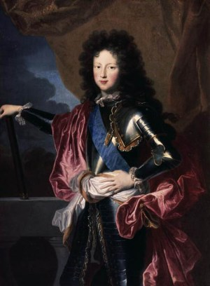 1689 portrait of a young Philippe d'Orléans, Duke of Chartres, Regent of France by Hyacinthe Rigaud.jpg