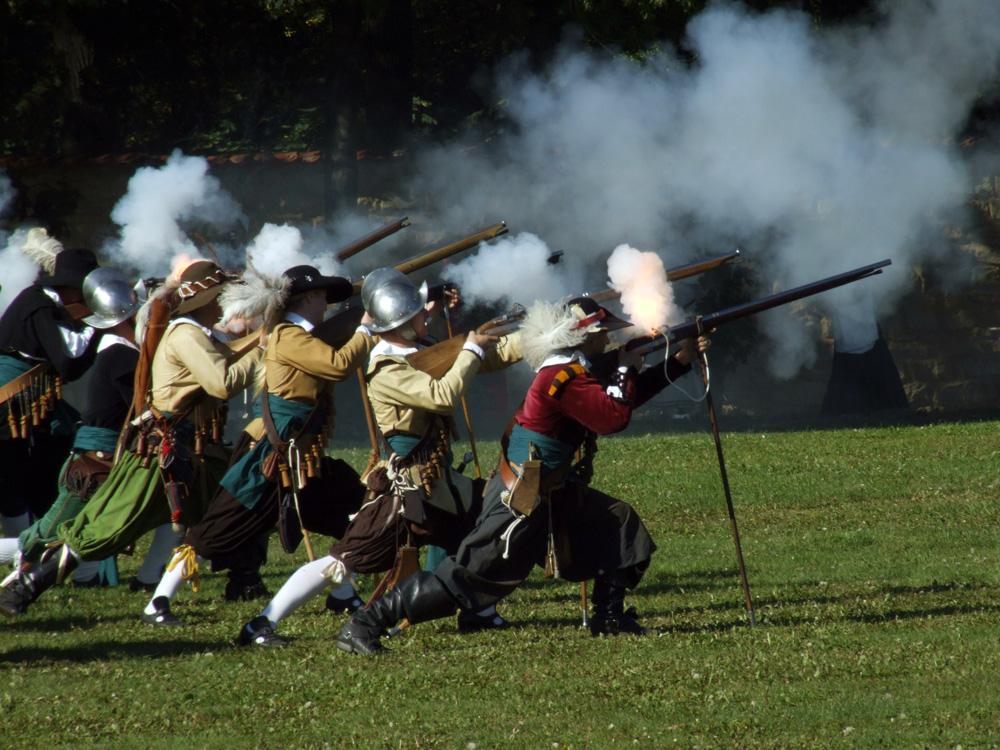 Historical re-enactment of the Battle of White Mountain.