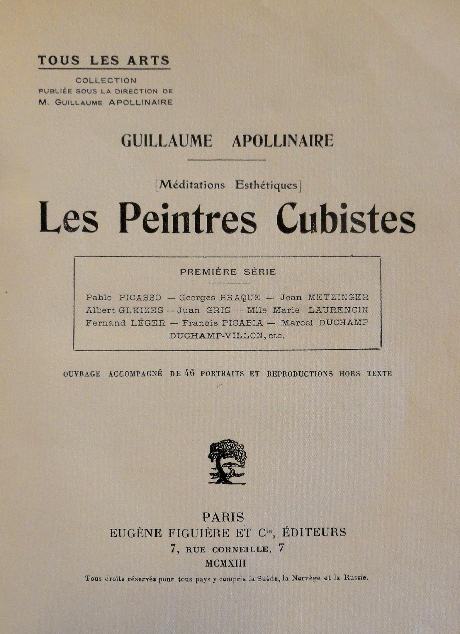 File:Guillaume Apollinaire, Les Peintres Cubistes, 1913