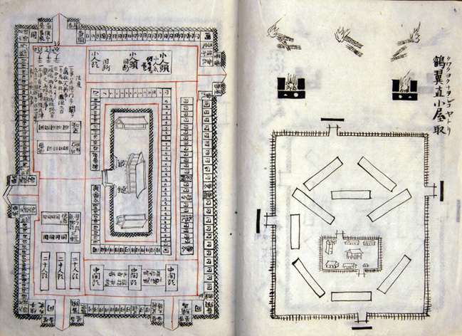 Sketch of military strategy made by Murakami G...