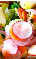 English: A close up of a fresh raw food dish