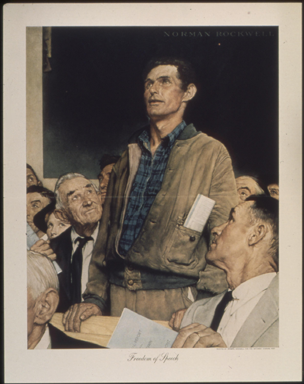La Liberté De Parole (norman Rockwell) : liberté, parole, (norman, rockwell), Freedom, Speech, (painting), Wikipedia