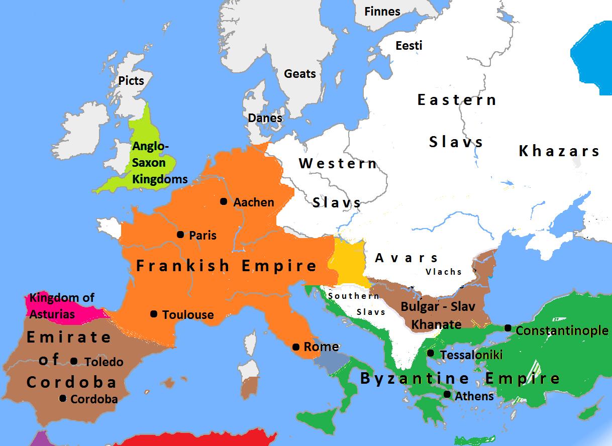 Blank Map Europe 1936