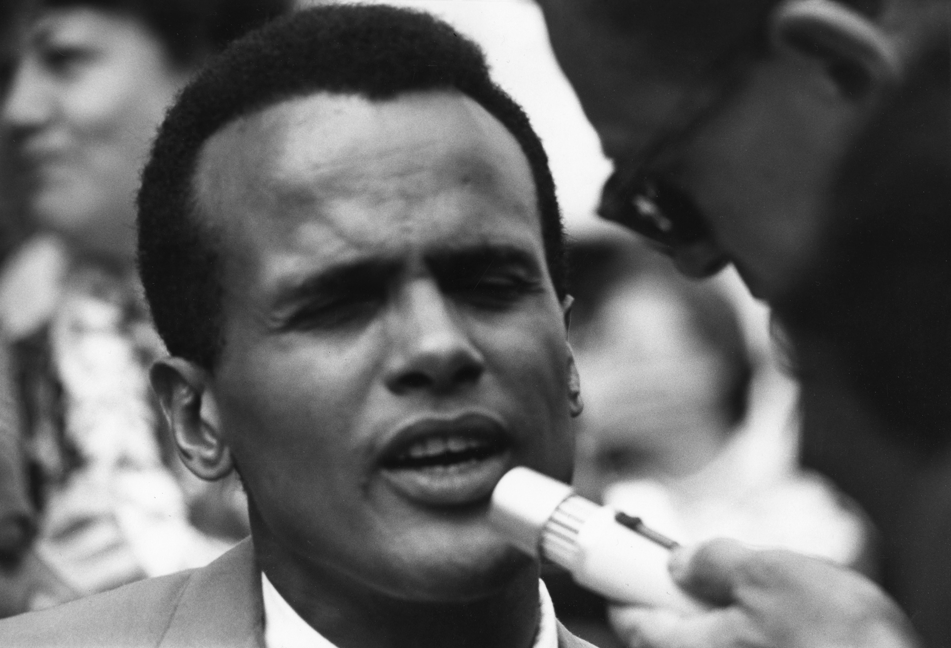 Belafonte speaking at the 1963 Civil Rights March on Washington