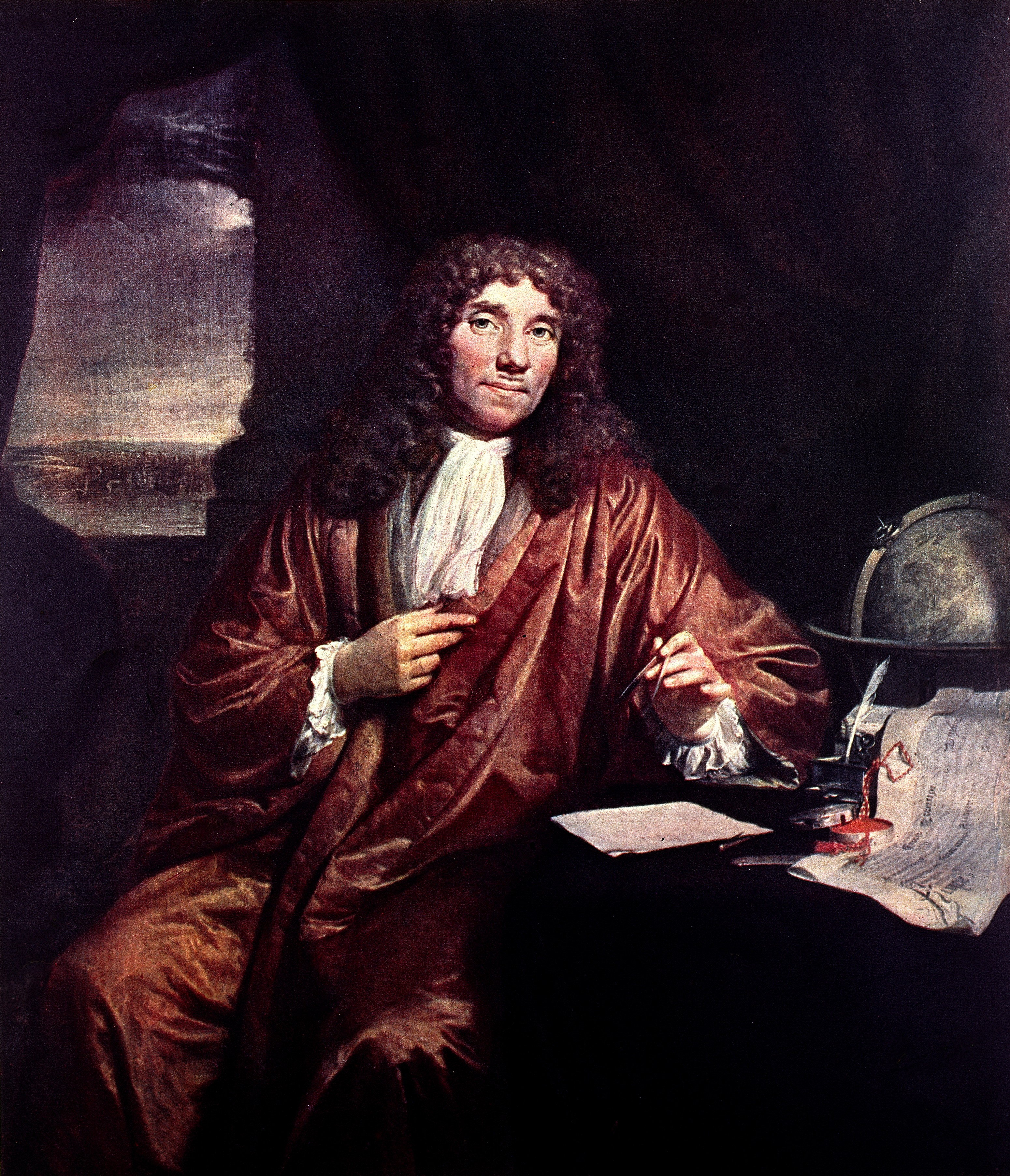 File Oil Painting Portrait Of A V Leeuwenhoek Wellcome
