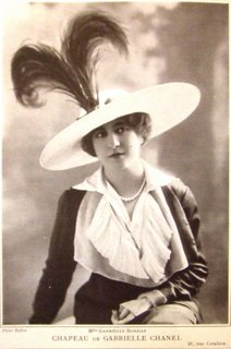 Mlle Gabrielle Dorziat wearing one of Chanel's...