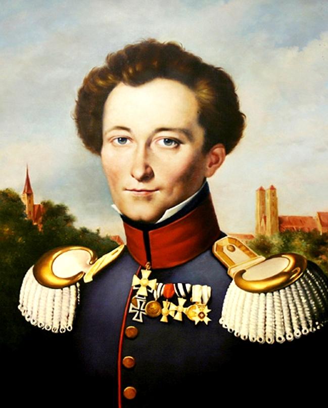 Carl von Clausewitz, painting by Karl Wilhelm ...