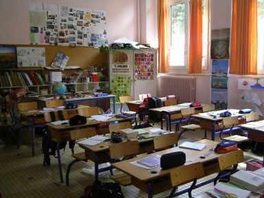 école - salle de classe - wikimedia