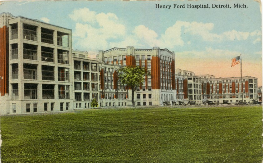 English: Henry Ford Hospital Detroit c. 1920