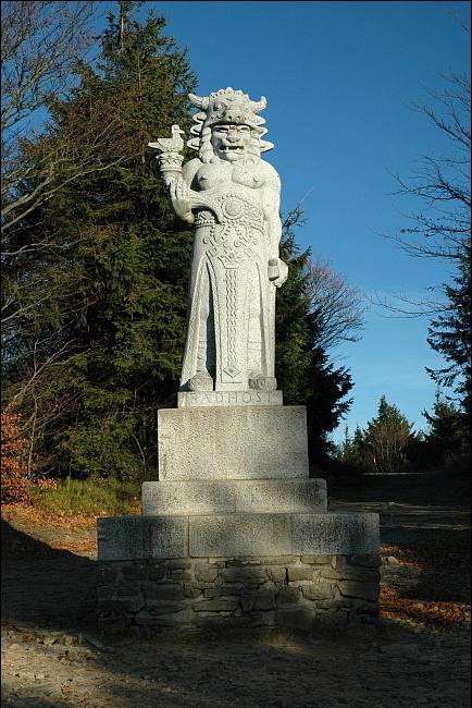 Statue of Radegast, an old god of Slavic mythology.
