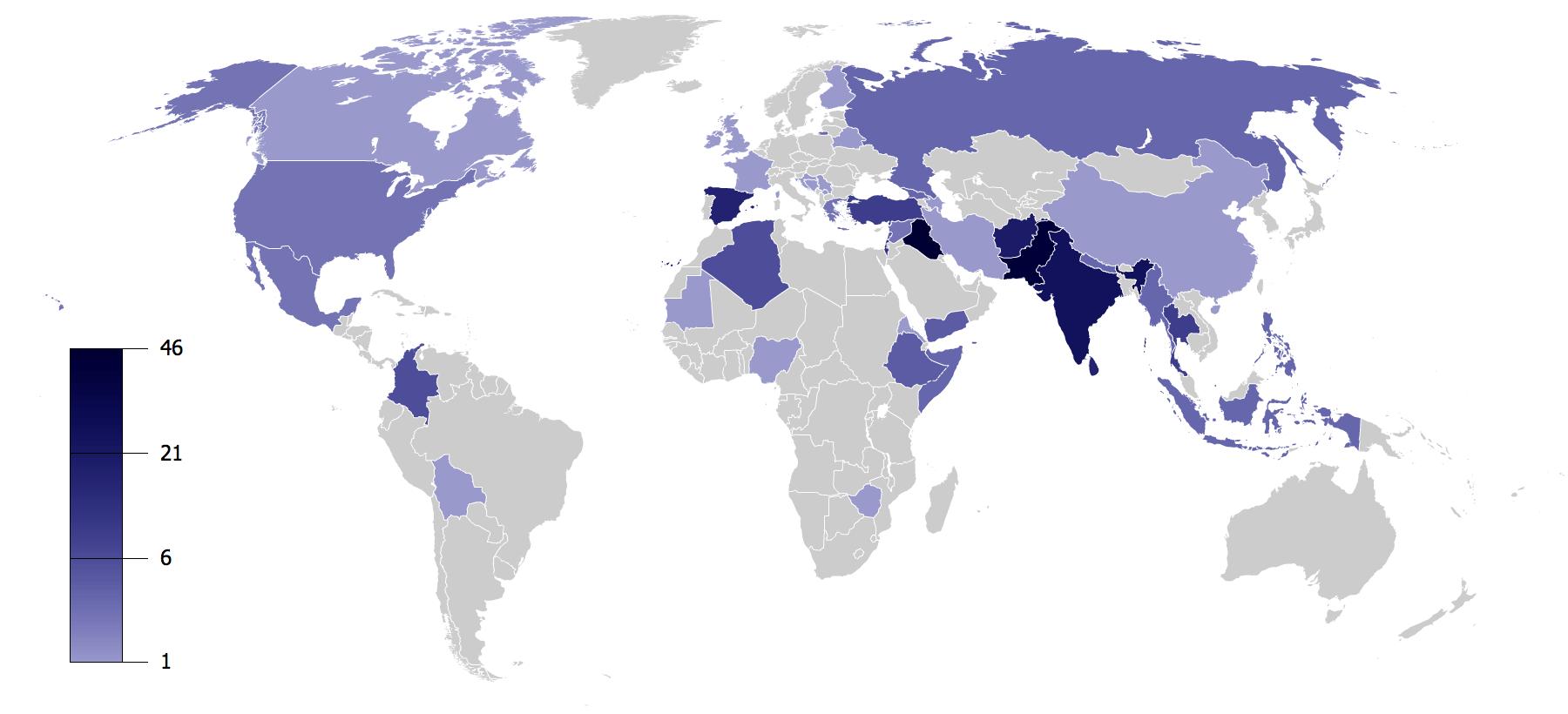 Terrorist Incidents in 2008