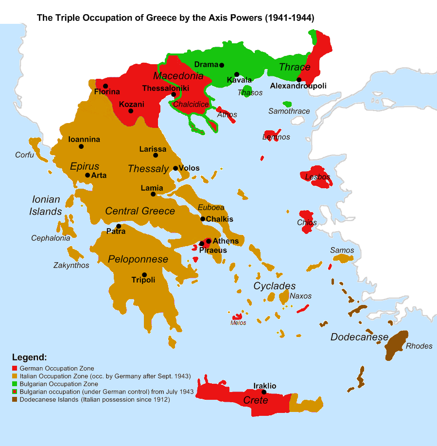 axis occupation of greece