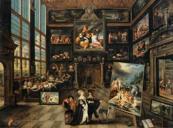 Painting Interior of an Art Gallery