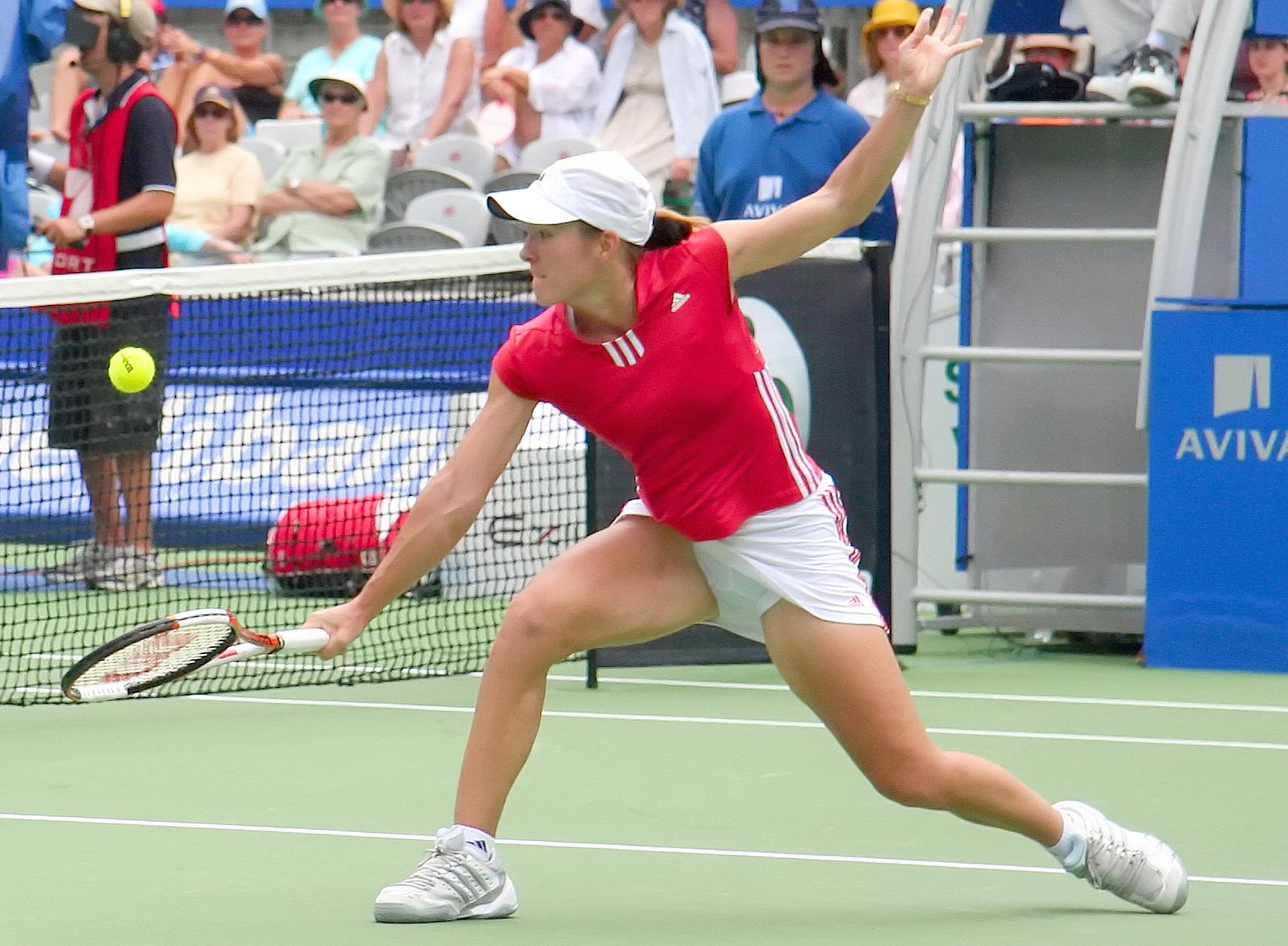 Tennis Star Justine Henin