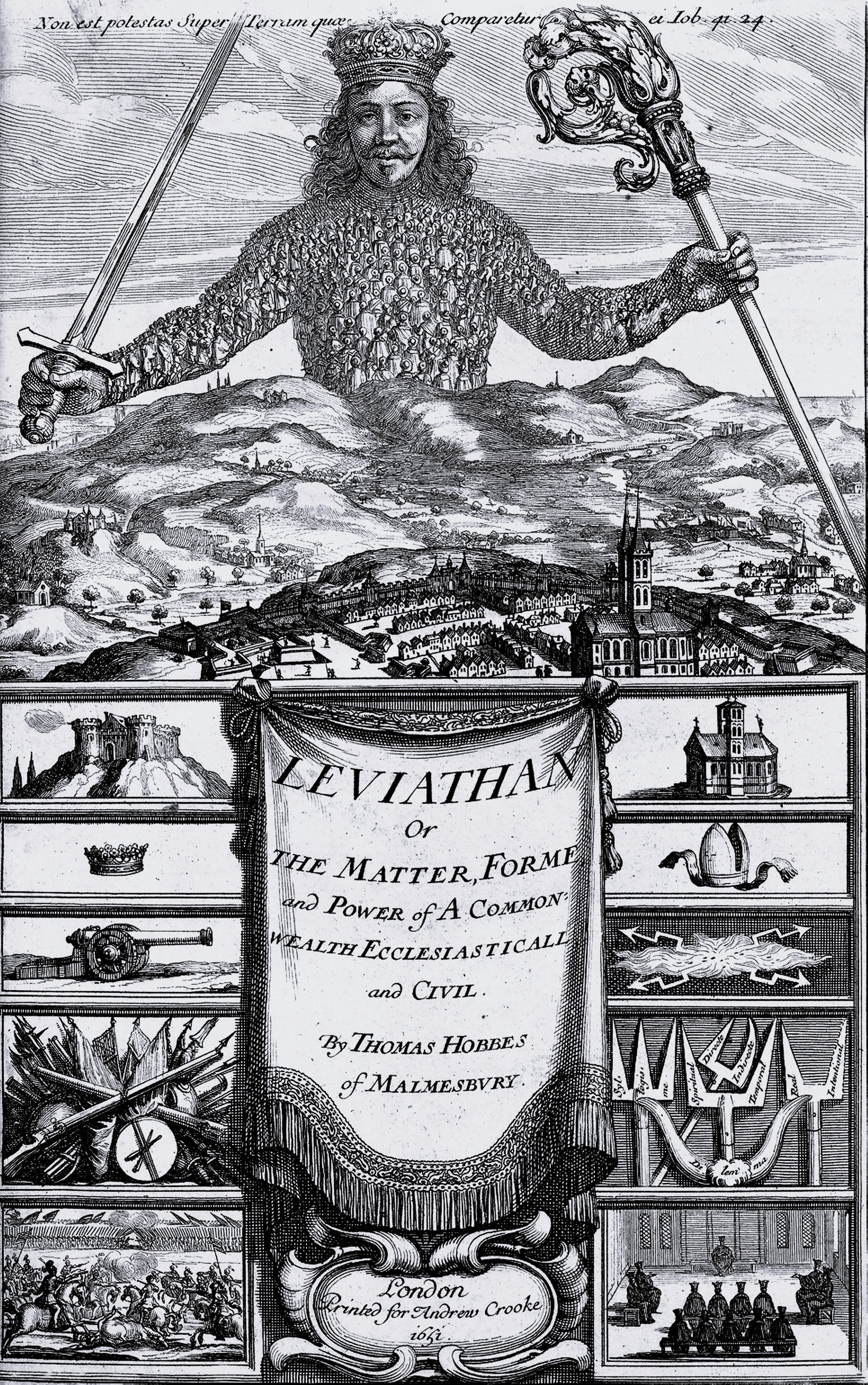 Frontispiece of Leviathan, 1651
