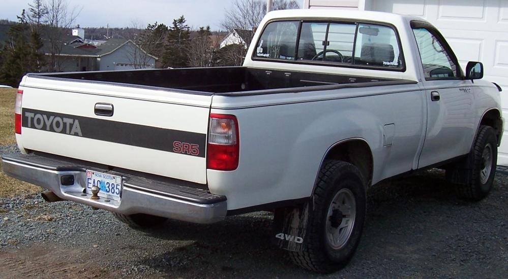 medium resolution of 1993 toyota t100 4x4 rear view