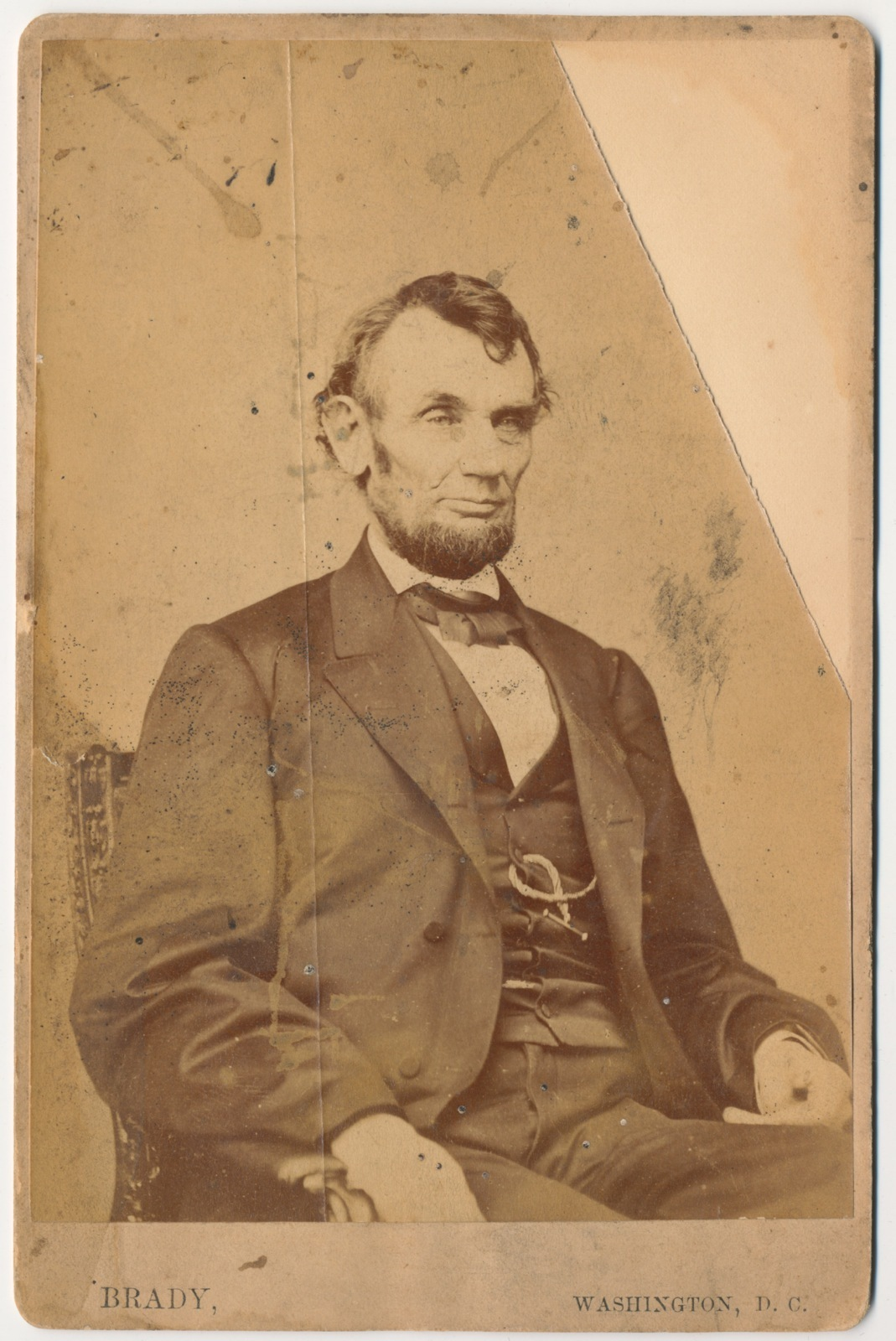 FileAbraham Lincoln O92 Cabinet Card by Brady 1864JPG