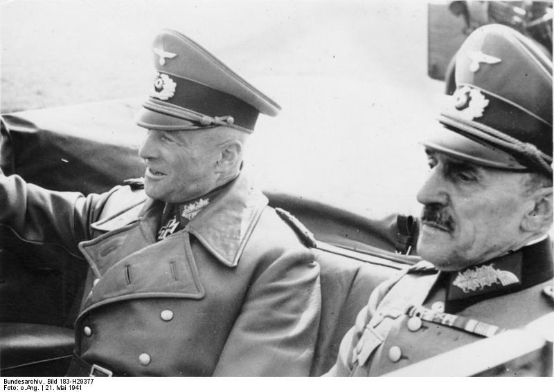 Walther von Brauchitsch (left) and Otto von St...