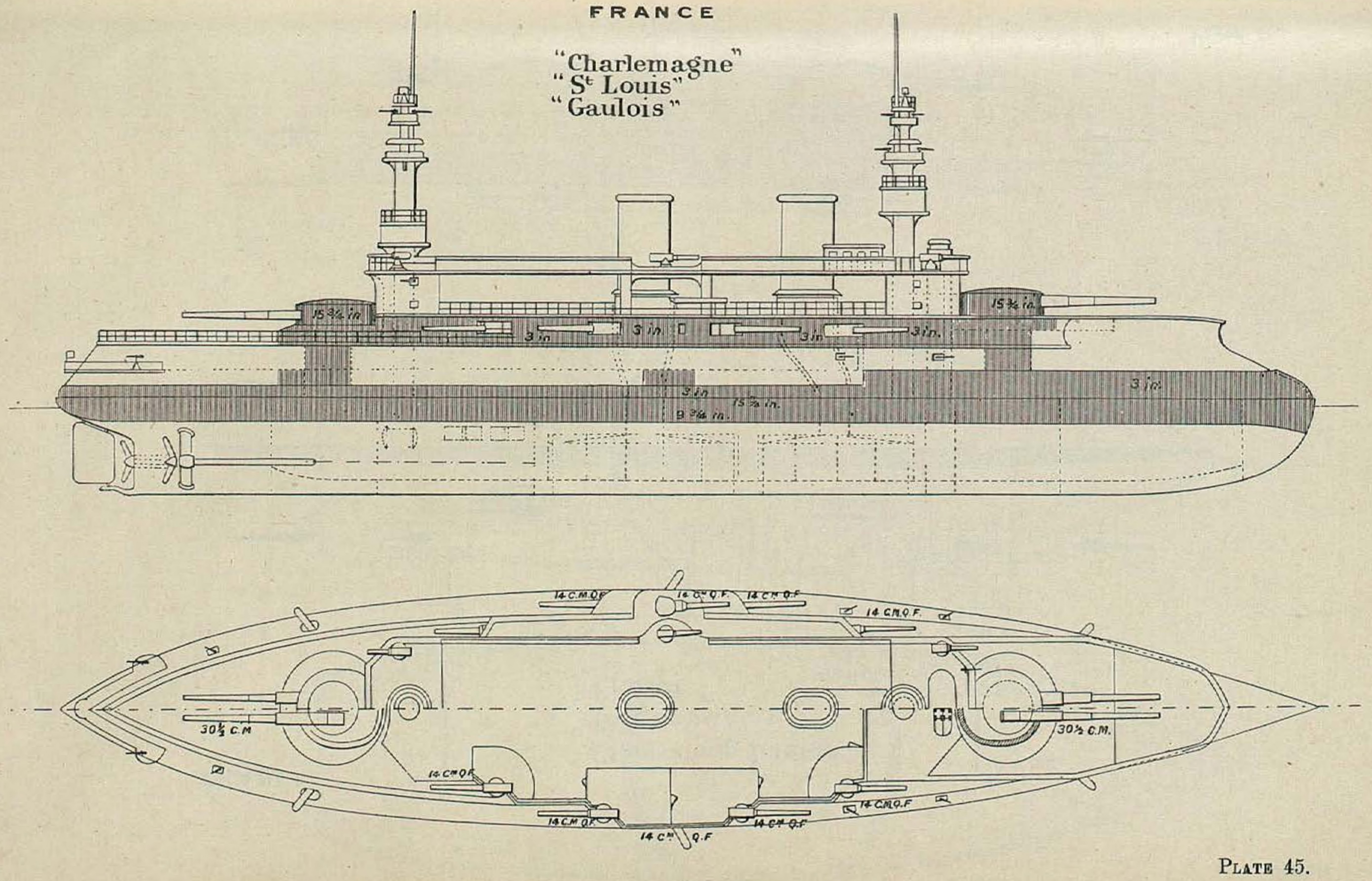 Fichier Charlemagne Class Battleship Diagrams Brasseys