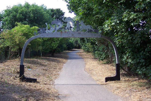 Cycle path sculpture at Fishbourne - geograph.org.uk - 48319