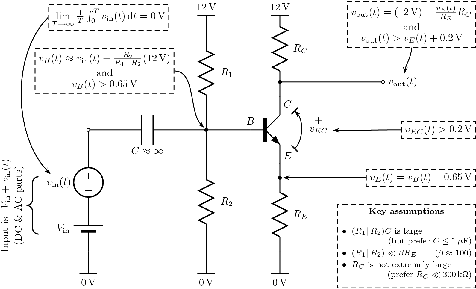 Complete Common Emitter Amplifier