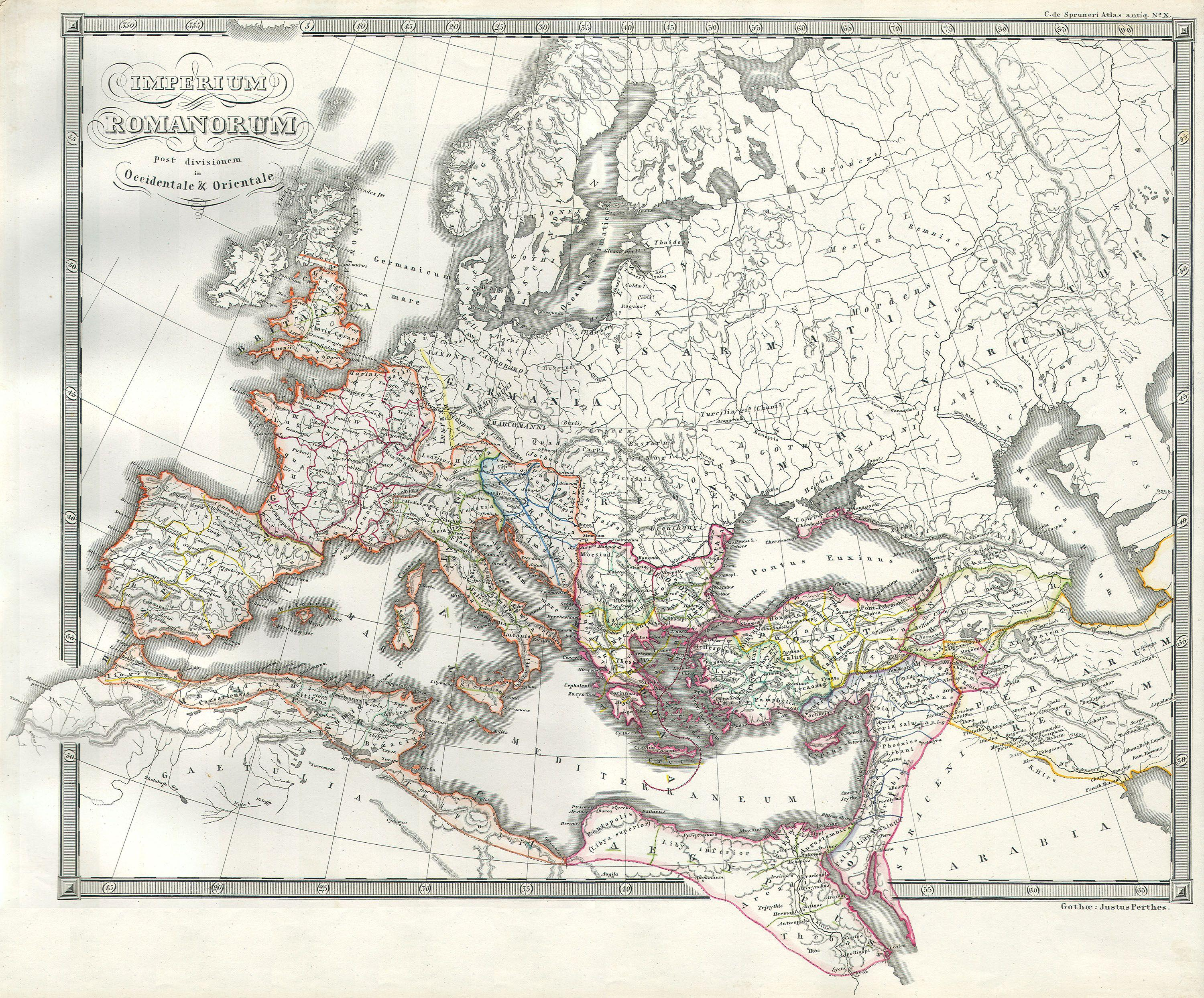 File Map Of The Roman Empire As Divided Into East And