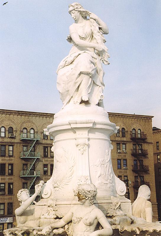 Ernst Härter, Loreleybrunnen, Heinrich-Heine-Denkmal in Bronx, New York, 1888