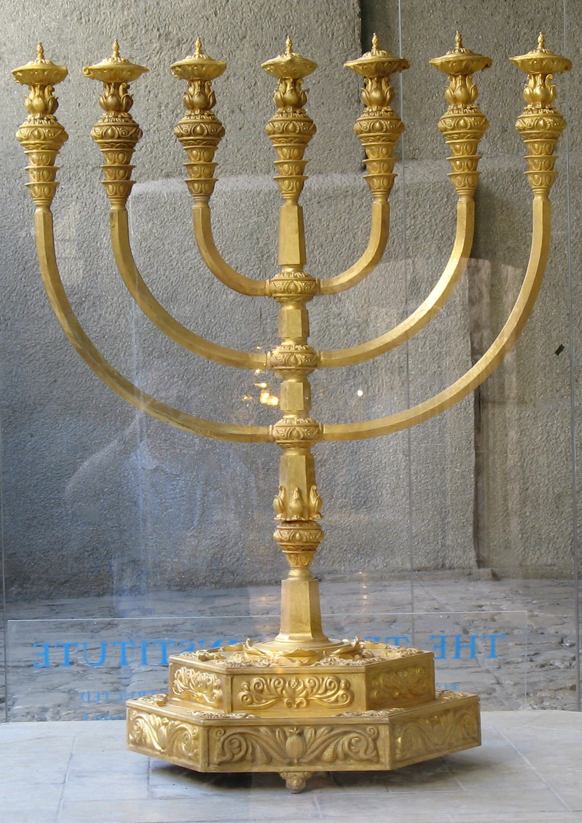 The rebuilt Menorah
