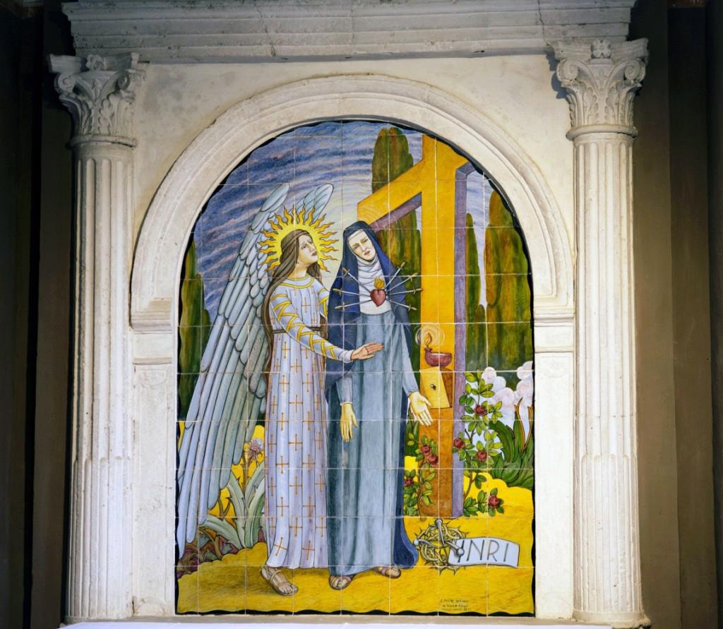 File Pala Di Maiolica Madonna Addolorata Jpg Wikimedia Commons