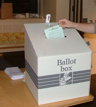 English: ballot box