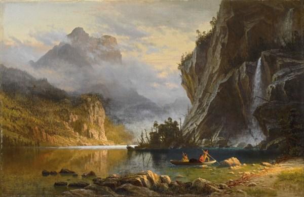 Albert Bierstadt Indians Spearfishing