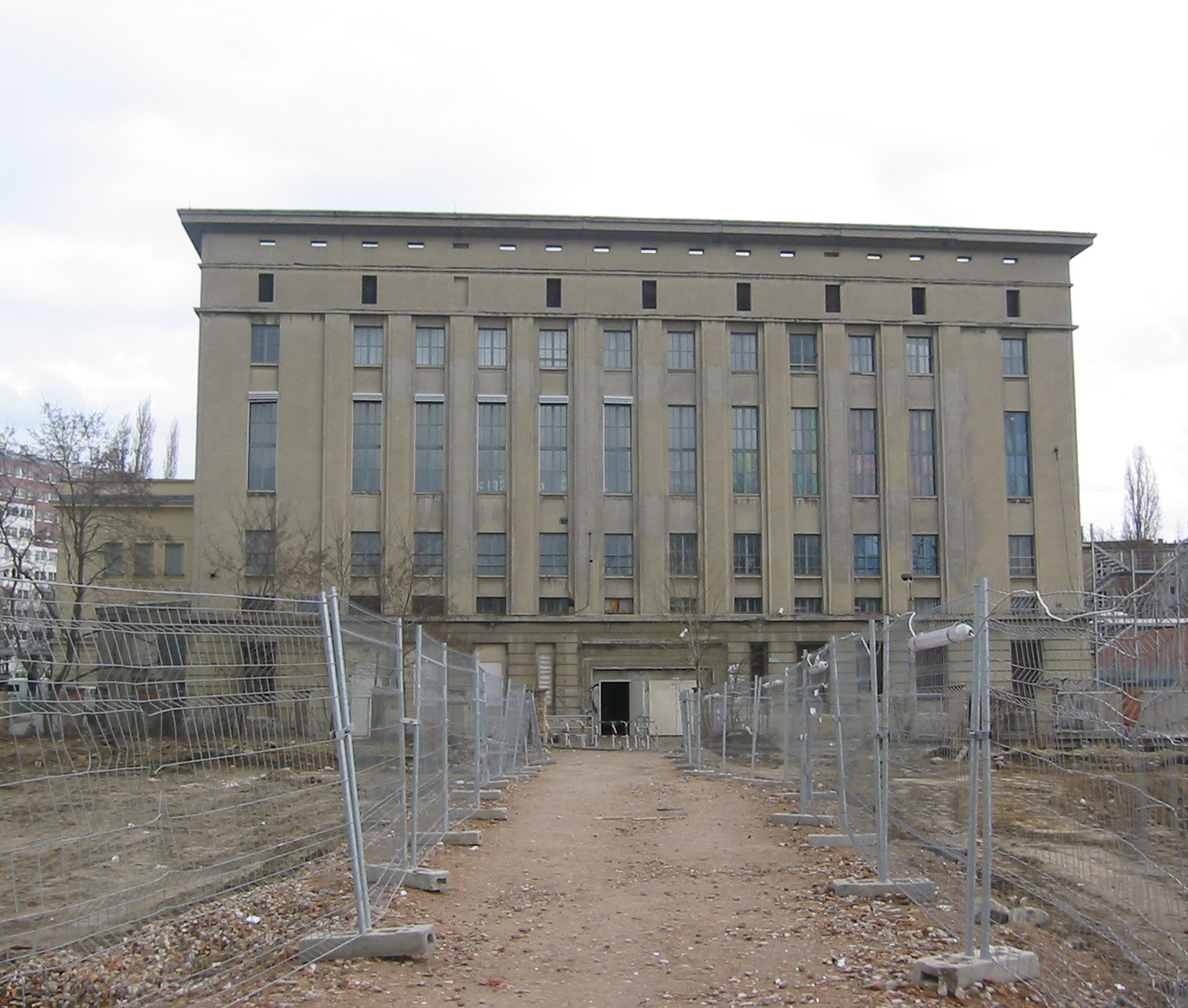 Berghain viewed from the street, from Wikimedia Commons