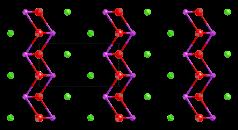 Bismuth oxychoride strucure