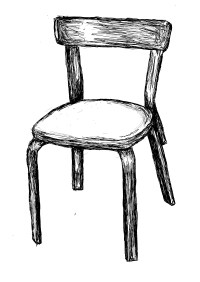 File:Chair-black and white drawing.jpg - Wikimedia Commons