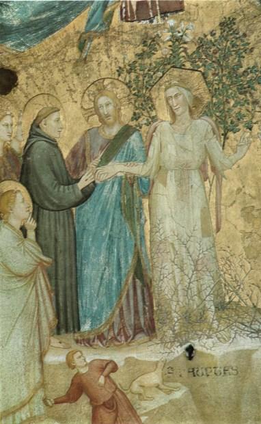 Sposalizio di San Francesco con la Povertà, 1316-1318, volta nella Basilica inferiore di Assisi, attribuito al
