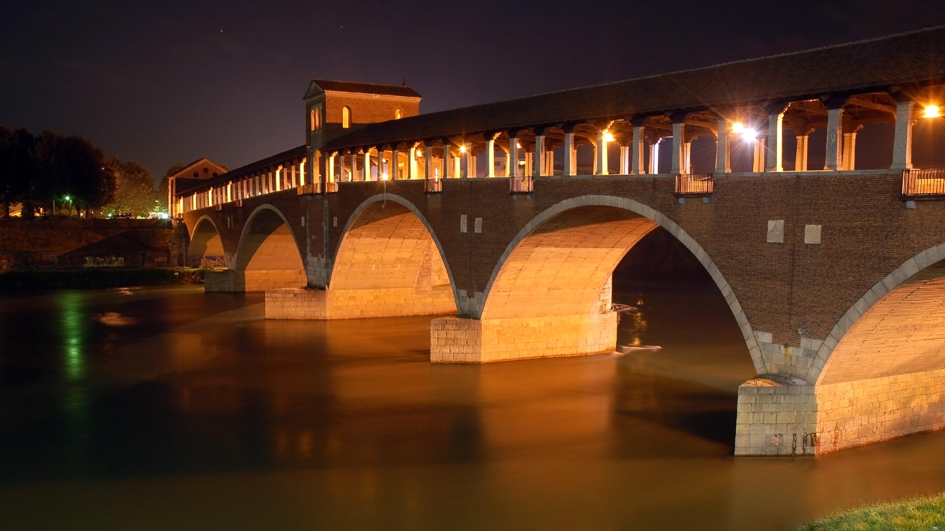 FjlPavia Ponte Coperto by nightjpg  Wikipdia