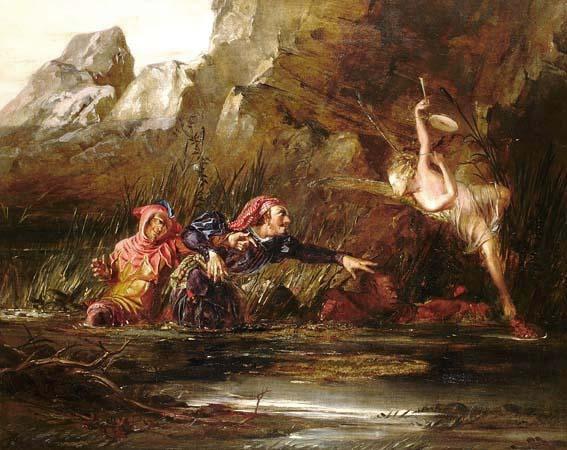 English: Ariel and Caliban