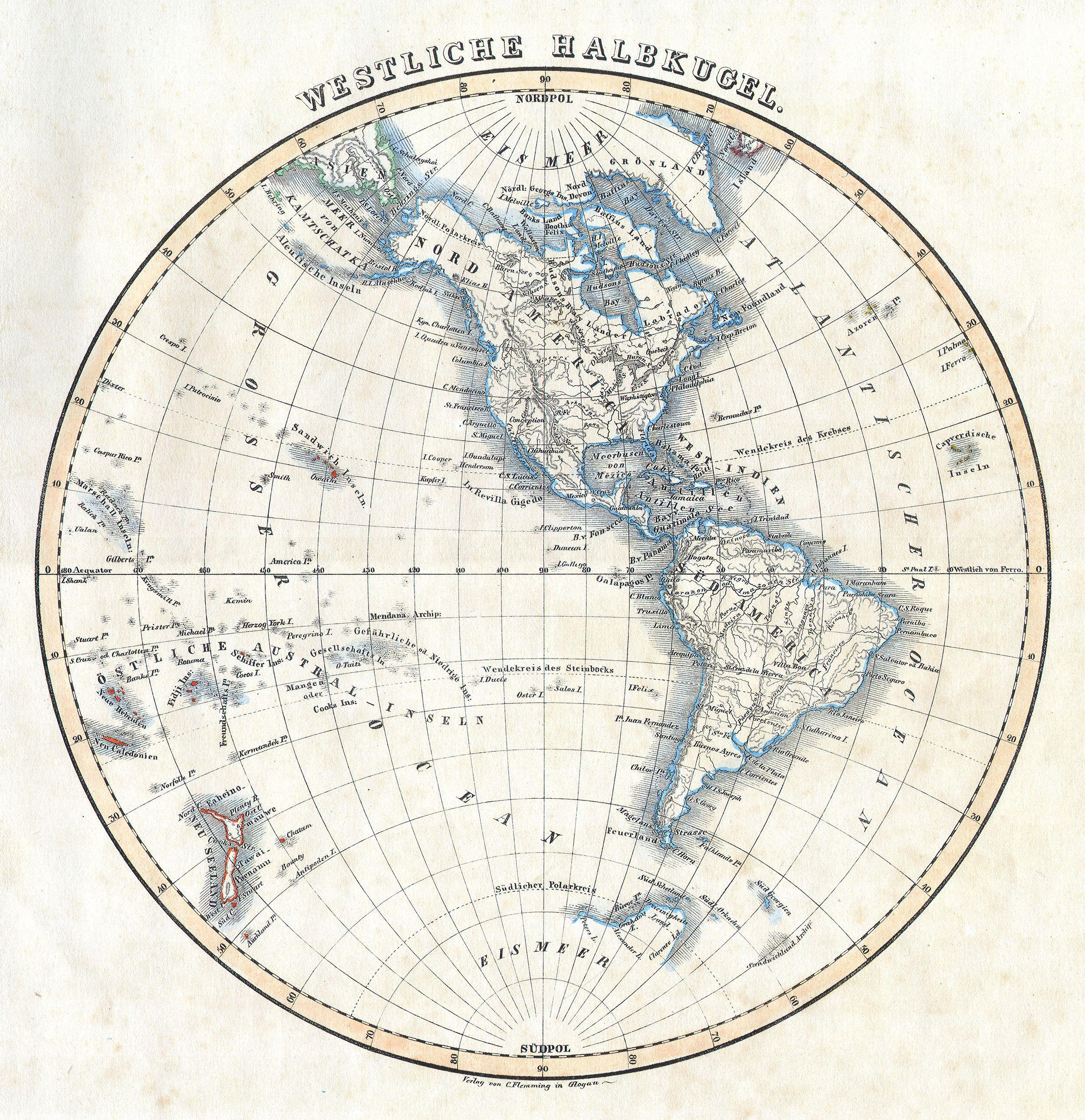 File Flemming Map Of The Western Hemisphere Or South