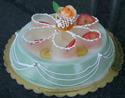 A Cassata siciliana, a rich sweet cake from Pa...