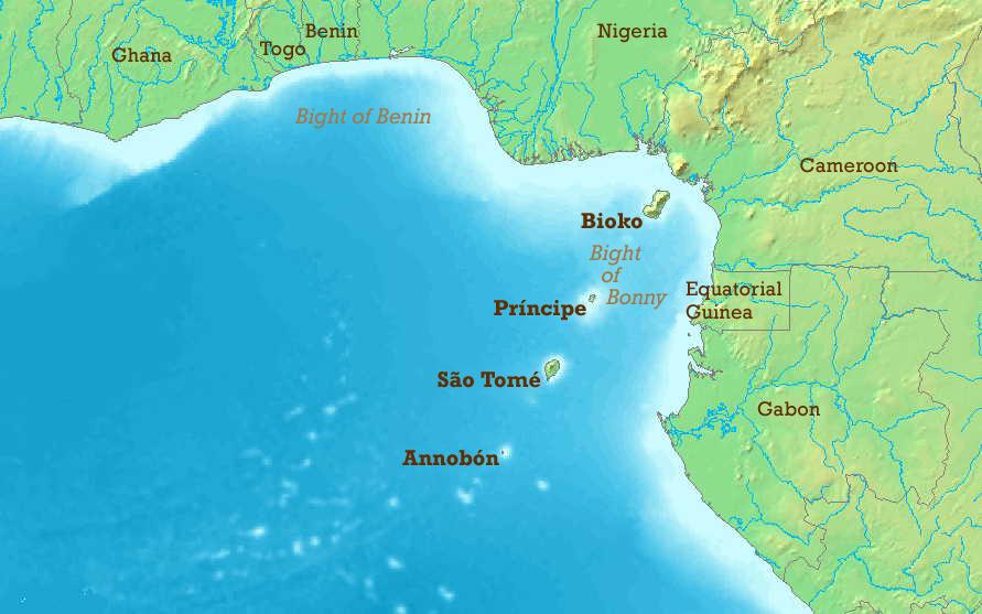 Gulf Guinea Slave Coast Map