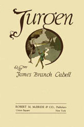 English: dust-jacket of Jurgen by James Branch...